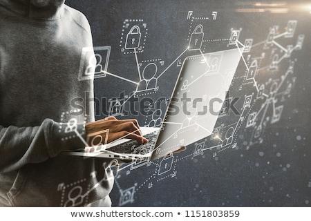 Business Ethik Laptop Bildschirm 3D modernen Stock foto © tashatuvango