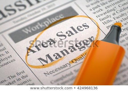 area sales manager wanted 3d stock photo © tashatuvango