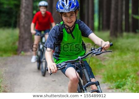 fiatal · srác · bicikli · vidék · sáv · gyermek · jókedv - stock fotó © IS2