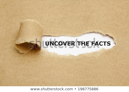 Uncover Facts Stock photo © Lightsource