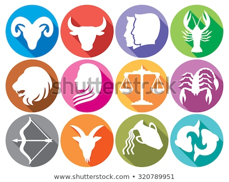 zodiac signs gemini twins icon stock photo © krisdog
