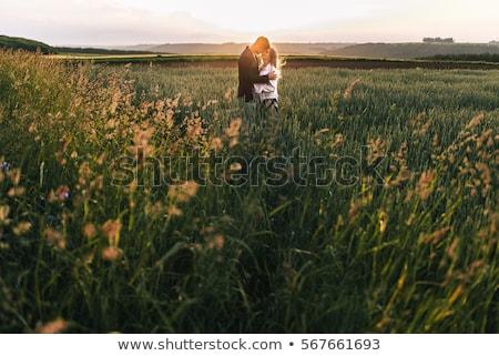 пару · , · держась · за · руки · человека · природы · романтика - Сток-фото © is2