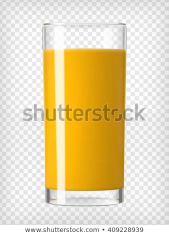 Stockfoto: Glas · vers · sinaasappelsap · geïsoleerd · voedsel · vruchten