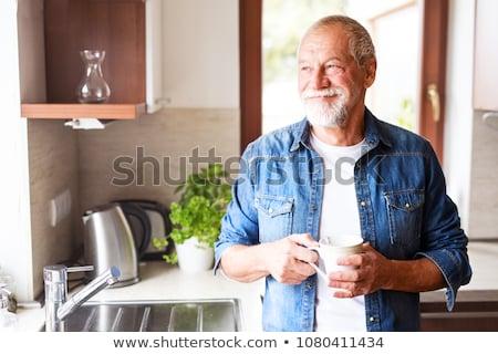 idősebb · férfi · portré · jóképű · néz · kamera - stock fotó © pressmaster