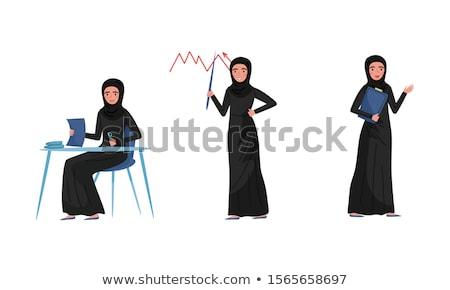 アラビア語 女性 ビジネス プレゼンテーション 投資家 ストックフォト © studioworkstock