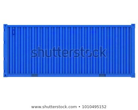 ilustração · 3d · azul · recipiente · isolado · metal · indústria - foto stock © anadmist