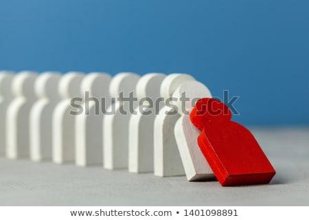 dominó · hatás · fekete · lánc · kígyó · fehér - stock fotó © is2
