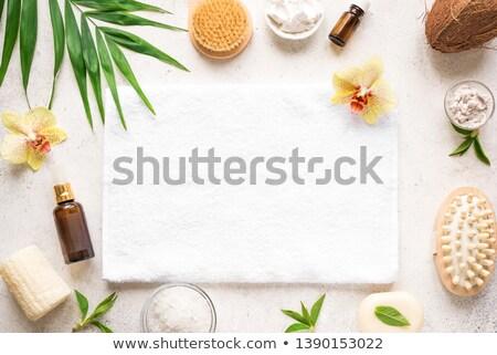 Fürdőszoba fürdő kellékek gyógyfürdő szépség termékek Stock fotó © marilyna