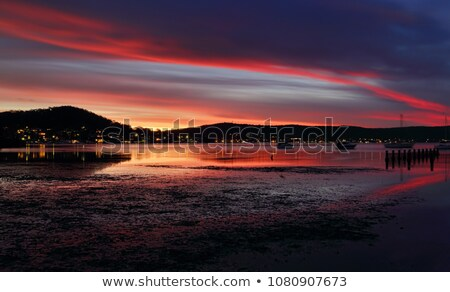 Evening dusk  skies and reflections at Yattalunga Stock photo © lovleah