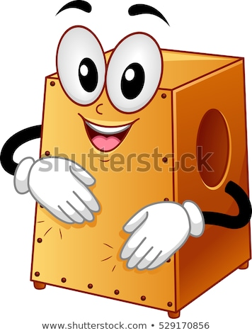 Mascot Cajon Drum Instrument Stock photo © lenm