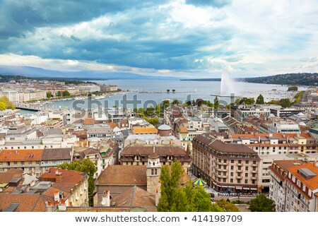 Geneva Geneve lake water Jet D'eau Switzerland Stock photo © lunamarina