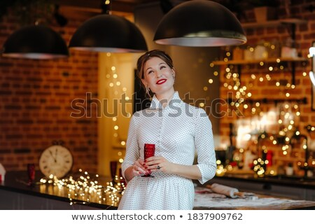 young woman posing in hairdresser room stock photo © konradbak