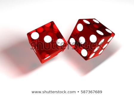 Kaszinó kocka izolált fehér 3D renderelt kép Stock fotó © user_11870380