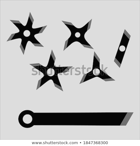 Blade star ninja shuriken isolated on white background. Vector illustration. Stock photo © Lady-Luck