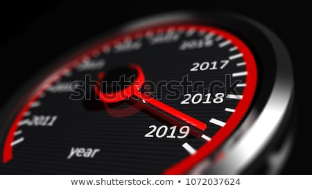 Kalender snelheidsmeter zwarte 3d illustration Rood christmas Stockfoto © ISerg