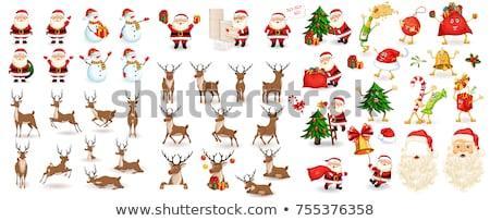 Set of santas and reindeer Stock photo © bluering