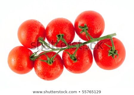 Dal olgun kırmızı domates atış Stok fotoğraf © dash