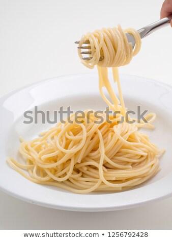 Spagetti taze domates üzerinde görmek Stok fotoğraf © dash