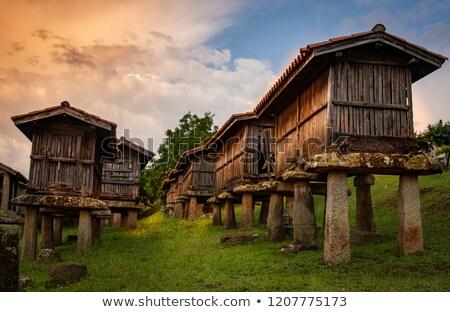landbouw · dorp · hemel · wolken - stockfoto © lunamarina