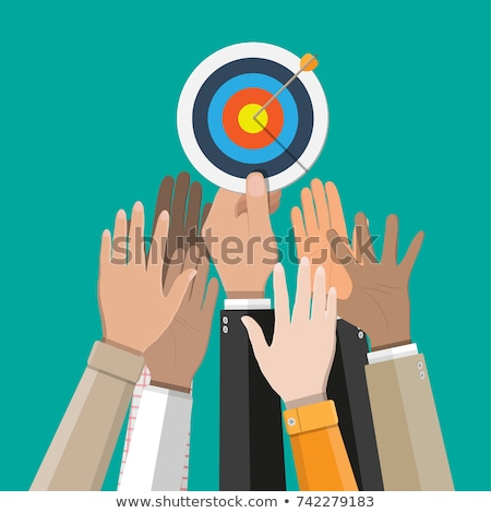 target with arrow icon   goal achieve concept line style aim stock photo © gomixer