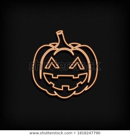 halloween · retro · ikona · wektora · symbolika - zdjęcia stock © anna_leni