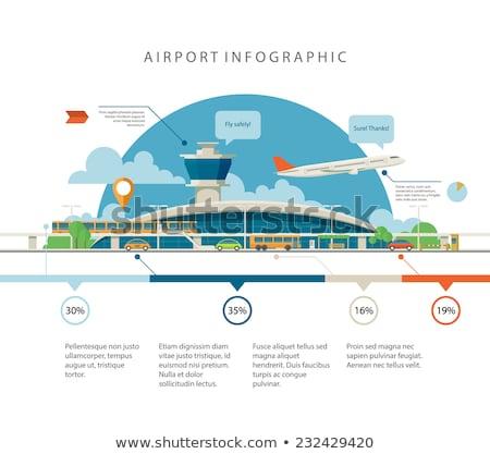 Stockfoto: Reizen · vliegtuig · illustratie · ontwerp · eps10 · vector