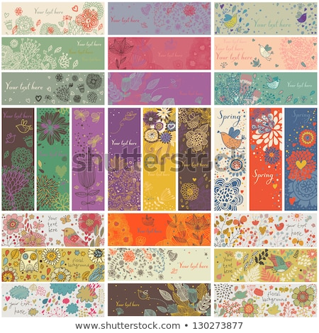 floral branch horizontal banners concept vector illustration design stock photo © linetale
