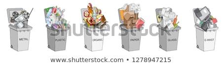 Organic Waste and E-Waste Set Vector Illustration Stock photo © robuart