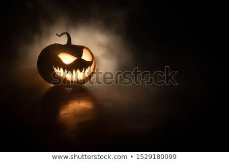 Хэллоуин Scary тыква улыбка осень лес Сток-фото © asturianu