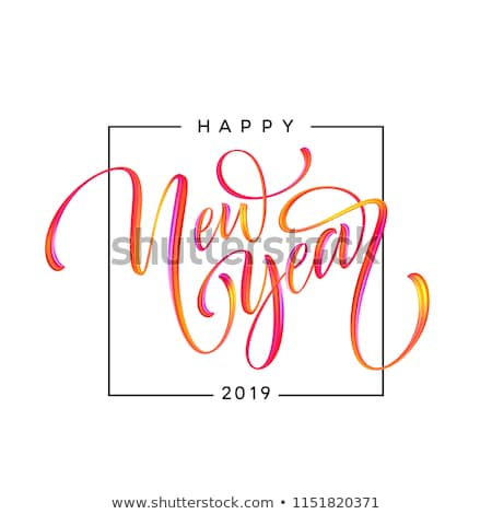number 2019 and text happy new year Stock photo © nito