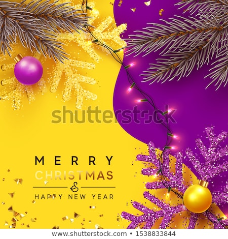 Christmas paars snuisterij ornament web banner Stockfoto © cienpies