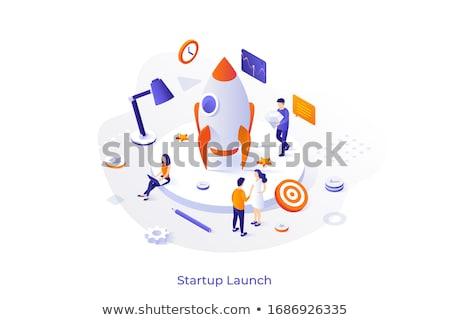 Startup bedrijf moderne kleurrijk isometrische witte Stockfoto © Decorwithme