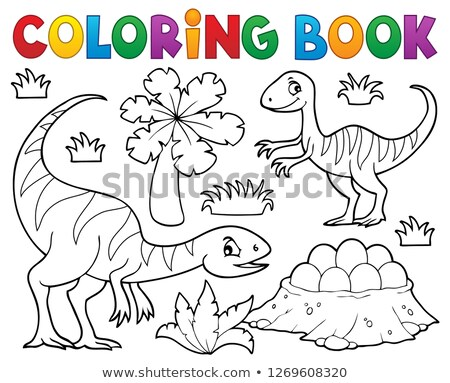 Coloring book dinosaur subject image 1 Stock photo © clairev
