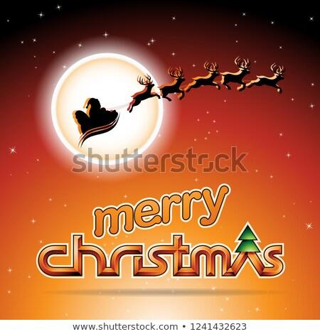 Oranje vector ontwerp sneeuw achtergrond Stockfoto © cidepix