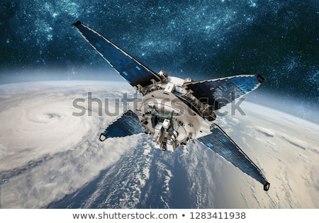 space satellite monitoring from earth orbit weather from space stock photo © cookelma