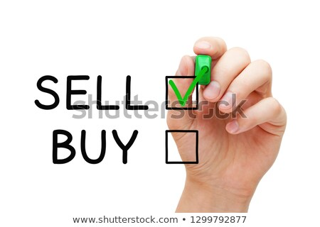 Choosing To Sell Not To Buy Check Mark Concept Stock photo © ivelin
