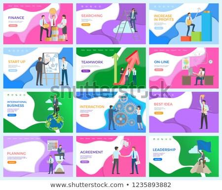 Financieren zoeken internationale bedrijfsleven vector best idee Stockfoto © robuart