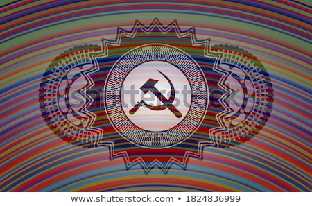 Colored Communism concept icons pattern Stock photo © netkov1