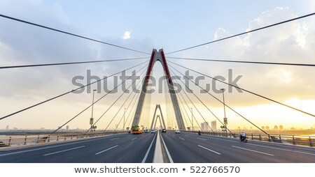 Red Cable bridge Stock photo © 5xinc