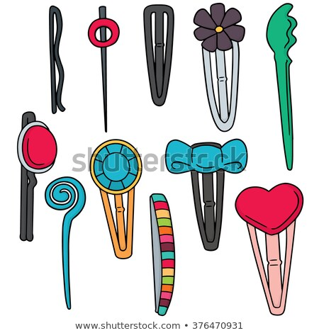 vector set of hairpin Stock photo © olllikeballoon