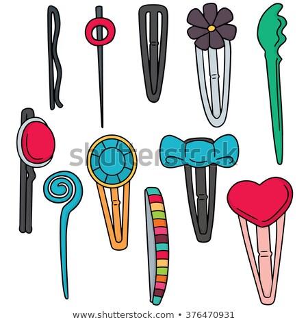vector set of hairpin stock photo © olllikeballoon