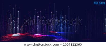 futuristisch · Daten · 3D-Darstellung · abstrakten · Technologie - stock foto © solarseven