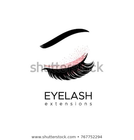 アイコン 孤立した ピンク 眼 抽象的な ストックフォト © barbaliss