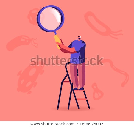 Magnifying Glass Organisms Illustration Stock photo © lenm