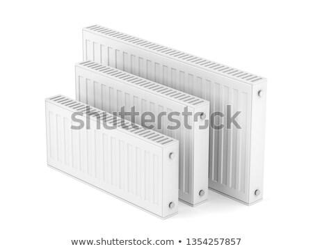 加熱 · ラジエーター · 孤立した · 白 · 金属 · ホット - ストックフォト © magraphics
