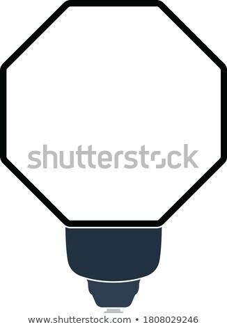 Ikona przenośny moda flash cienki line Zdjęcia stock © angelp