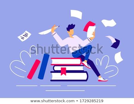Copywriting - modern flat design style colorful illustration Stock photo © Decorwithme