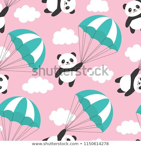 Vector set of parachuter pattern Stock photo © netkov1