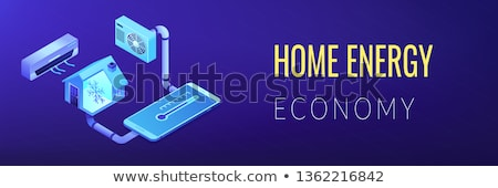 Air conditioning isometric 3D banner header. Stock photo © RAStudio