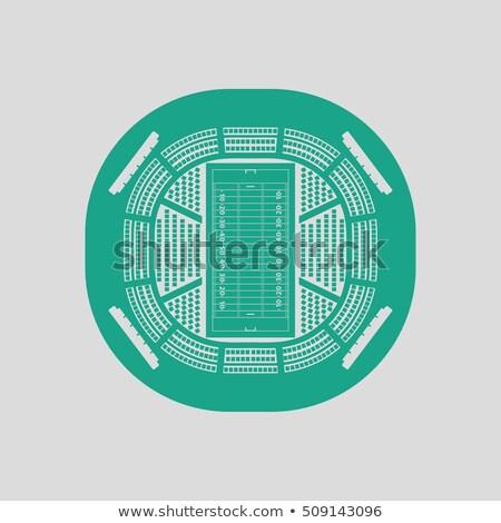 американский футбола стадион мнение икона цвета Сток-фото © angelp